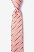 Orange Silk Lagan Skinny Tie