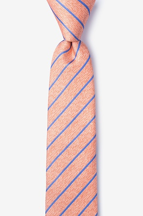 Lagan Orange Skinny Tie