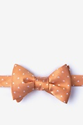Orange Silk Richards Bow Tie