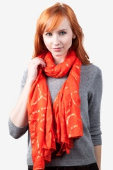 Orange Viscose Matilda Scarf