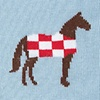 Pale Blue Carded Cotton Horsin' Around
