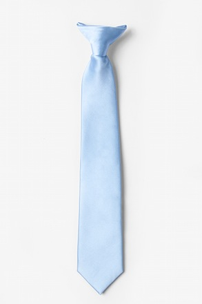 _Pale Blue Clip-on Tie For Boys_