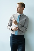 Pale Blue Extra Long Tie Photo (3)
