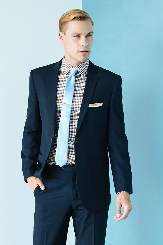 Pale Blue Skinny Tie Photo (3)