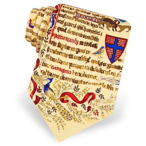 Illuminated Manuscript Tie by Alynn Novelty