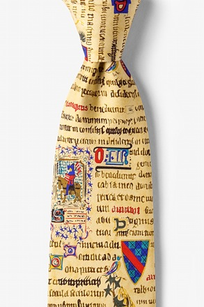 Illuminated Manuscript Tie