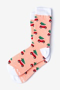 Peach Carded Cotton I Pine for You Women's Sock