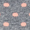 Peach Carded Cotton Power Dots Sock