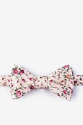 Peach Cotton Bellevue Self-Tie Bow Tie