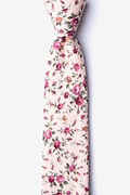 Peach Cotton Bellevue Skinny Tie