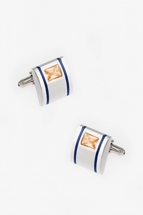 Striped Bling Cufflinks
