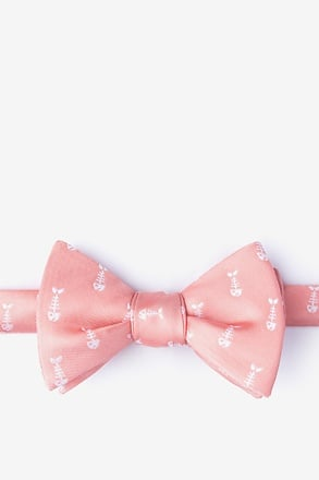 _Fish Bones Peach Self-Tie Bow Tie_