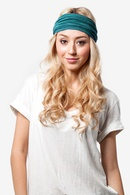 Peacock Blue Polyester Basic Stretchy Headband