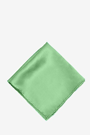 _Peapod Green Pocket Square_
