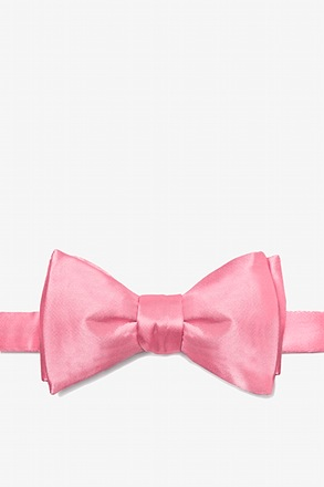 Peony Pink Butterfly Bow Tie