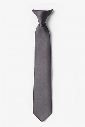 Pewter Clip-on Tie For Boys