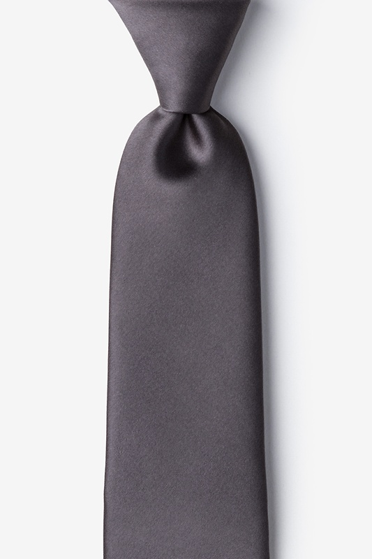 Pewter Extra Long Tie