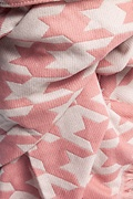 Pink and Beige Bristol Houndstooth Scarf by Scarves.com
