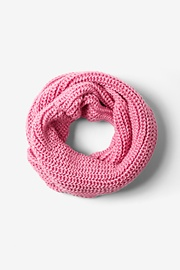 Pink Acrylic Pink Concord Knit Infinity Scarf
