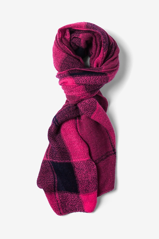 Pink London Tartan Scarf by Scarves.com