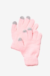 Pink Acrylic Texting Gloves