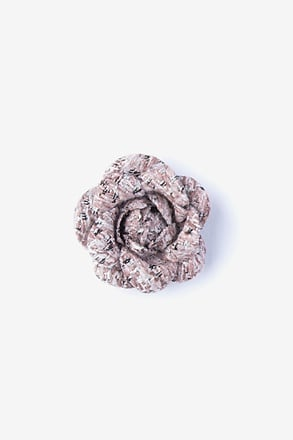 _Boucle Tweed Flower Pink Lapel Pin_