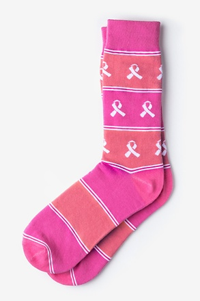 Breast Cancer Awareness Pink Sock
