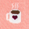 Cup of Coffee Pink Sock