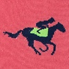 Pink Carded Cotton Derby Horse Racing