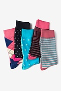 Pink Carded Cotton Edison Sock Pack