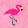 Pink Carded Cotton Flamingo Sock