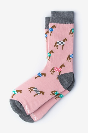 _Derby Horse Pink Women's Sock_