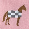 Pink Carded Cotton Horsin Around Women's Sock