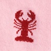 Pink Carded Cotton Lobsters Sock