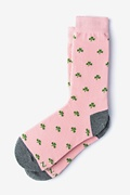 Pink Carded Cotton My Lucky Socks Women's Sock