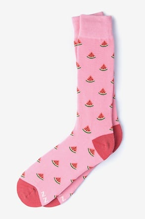 _One in a Melon Pink Sock_