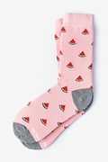 Pink Carded Cotton One in a Melon Women's Sock