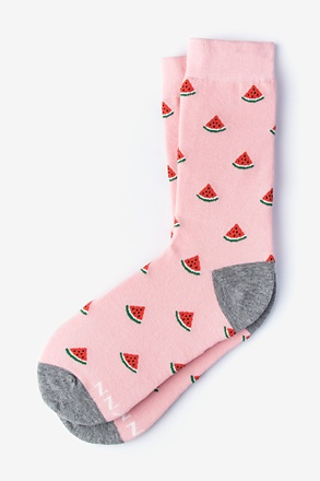One in a Melon Pink Women's Sock