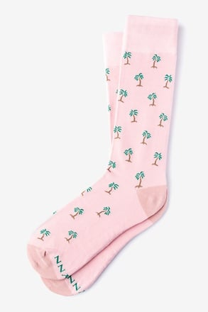 Palm Trees Pink Sock