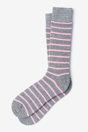 _Virtuoso Stripe Pink Sock_