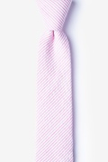 Pink Cotton Cheviot Skinny Tie
