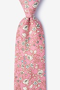 Pink Cotton Conejo Extra Long Tie