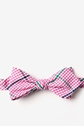 Pink Cotton Douglas Diamond Tip Bow Tie