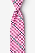 Pink Cotton Douglas Extra Long Tie