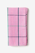 Pink Cotton Douglas Pocket Square