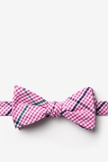 Pink Cotton Douglas Self-Tie Bow Tie
