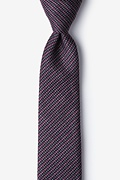 Pink Cotton Gilbert Skinny Tie