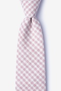 Pink Cotton Huron Extra Long Tie