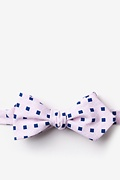 Pink Cotton Jamaica Diamond Tip Bow Tie