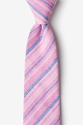 Pink Cotton Katy Extra Long Tie